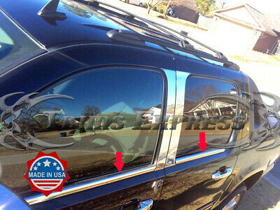 2007-2014 Chevy Avalanche//Suburban 4Pc Chrome Window Sill Trim Stainless Overlay