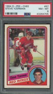 1984-85-OPC-67-STEVE-YZERMAN-RC-ROOKIE-CARD-PSA-8-NM-MT-RED-WINGS