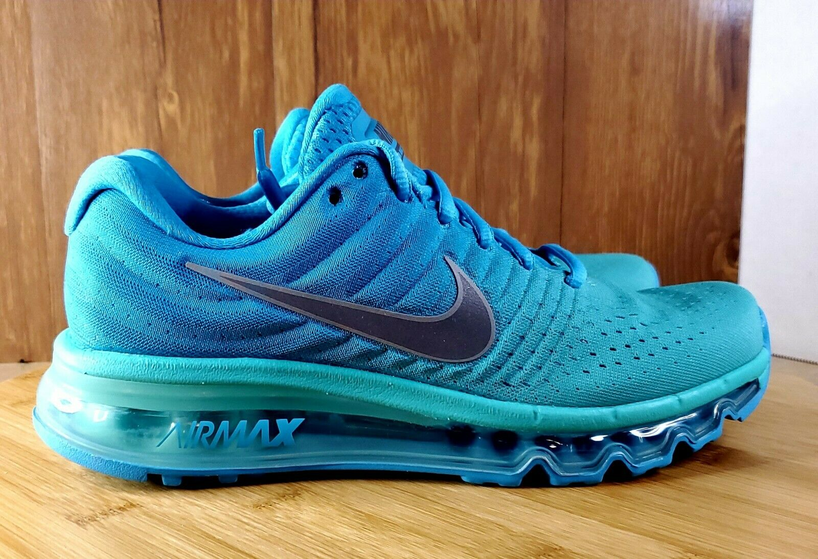 Rocío Educación María  Nike Air Max 2017 GS Chlorine Blue & Turquoise Running Sz 6.5Y NEW 851623  402 for sale online