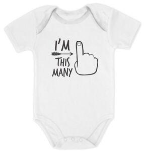 1st Bday One Year Old First Birthday Gift Boy Girl Baby Bodysuit I