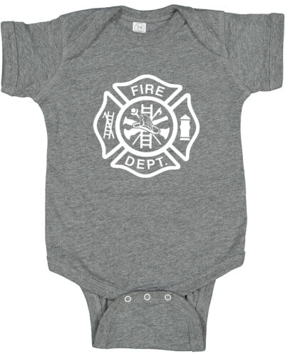 Fire Dept Cute baby clothes infant t-shirt one piece gift romper firefighter