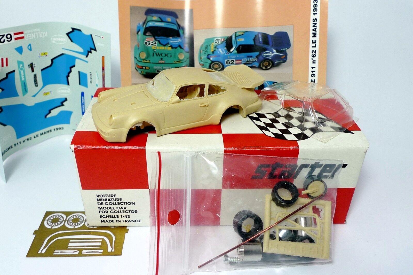 Kit  Starter 1 43. 43. 43. Porsche 911 Carrera 2 Konrad N°62 Le Mans 1963 0c7068