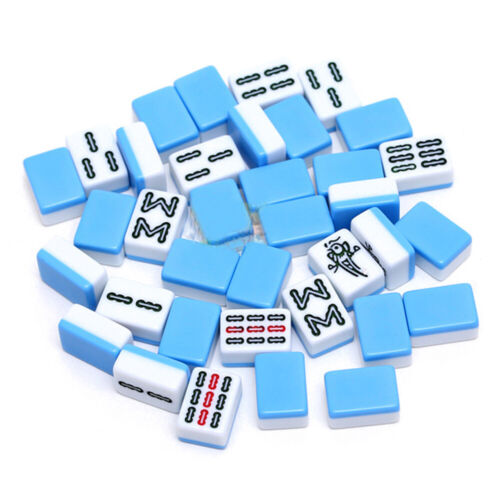 24mm Mini Mahjong Set Travel Traditional Chinese Game Indoor Entertainment Y8A4