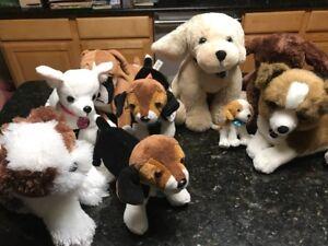 Lot-Of-8-Nintendo-Nintendogs-Labrador-boxer-beagle-Plush-Dog