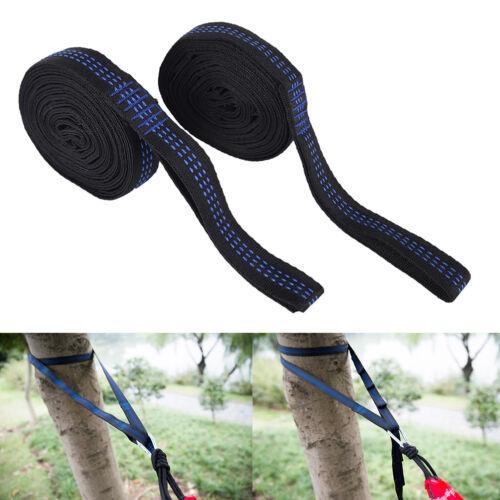 2x adjustable tree hanging hammock belts heavy duty extension straps 16 loops-JT