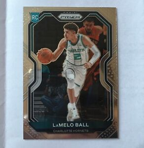 2020-21 Panini Prizm LAMELO BALL Base ROOKIE CARD No. 278 Hornets RC