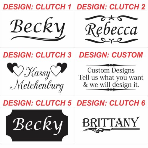 Personalized Leather Clutch Purses Custom Engraved Valentine/'s Day Gifts for Her