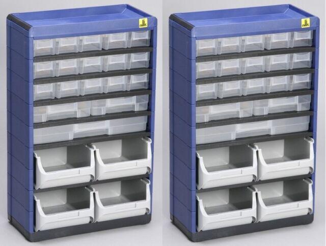 2Stück Allit Kleinteilemagazin VarioPlus Organizer Sortimentskasten AL461900