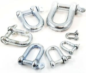 Bow Shackles Shackle 4 x 6mm Screw 1//4 Pin Commercial Galvanised Lifting Towing
