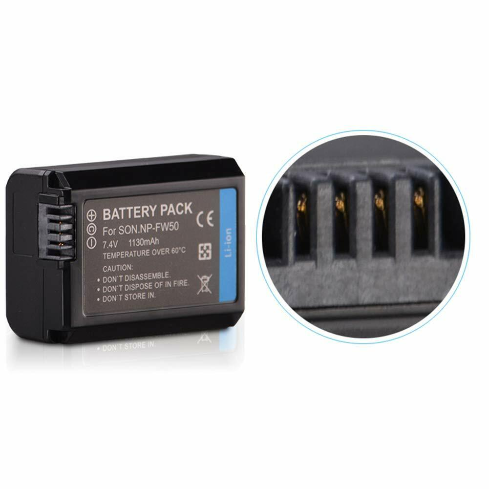 2x Akku Battery Pack NP-FW50 1030mAh für Sony Alpha 6500 a6500 Akku Ladegerät