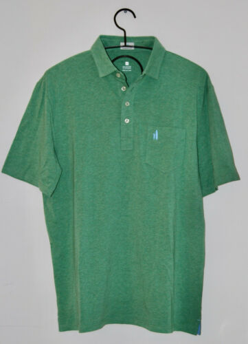 Details about  /NWOT Johnnie-O Men/'s Light Heather Green Solid SS Polo Shirt sz M