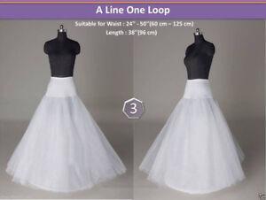 Hot-new-wedding-bridal-1-Hoop-A-Line-wedding-dress-petticoat-white-Crinoline