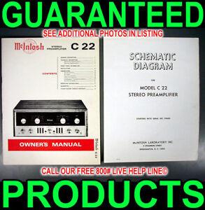 MCINTOSH-C-22-C22-TUBE-AUDIO-PRE-AMPLIFIER-PREAMP-12AX7-MANUAL-SERVICE-SCHEMATIC