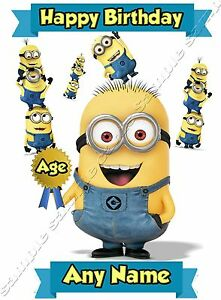 Minions Despicable Me Personalised Birthday Card Daughter Son Boy Girl Kids