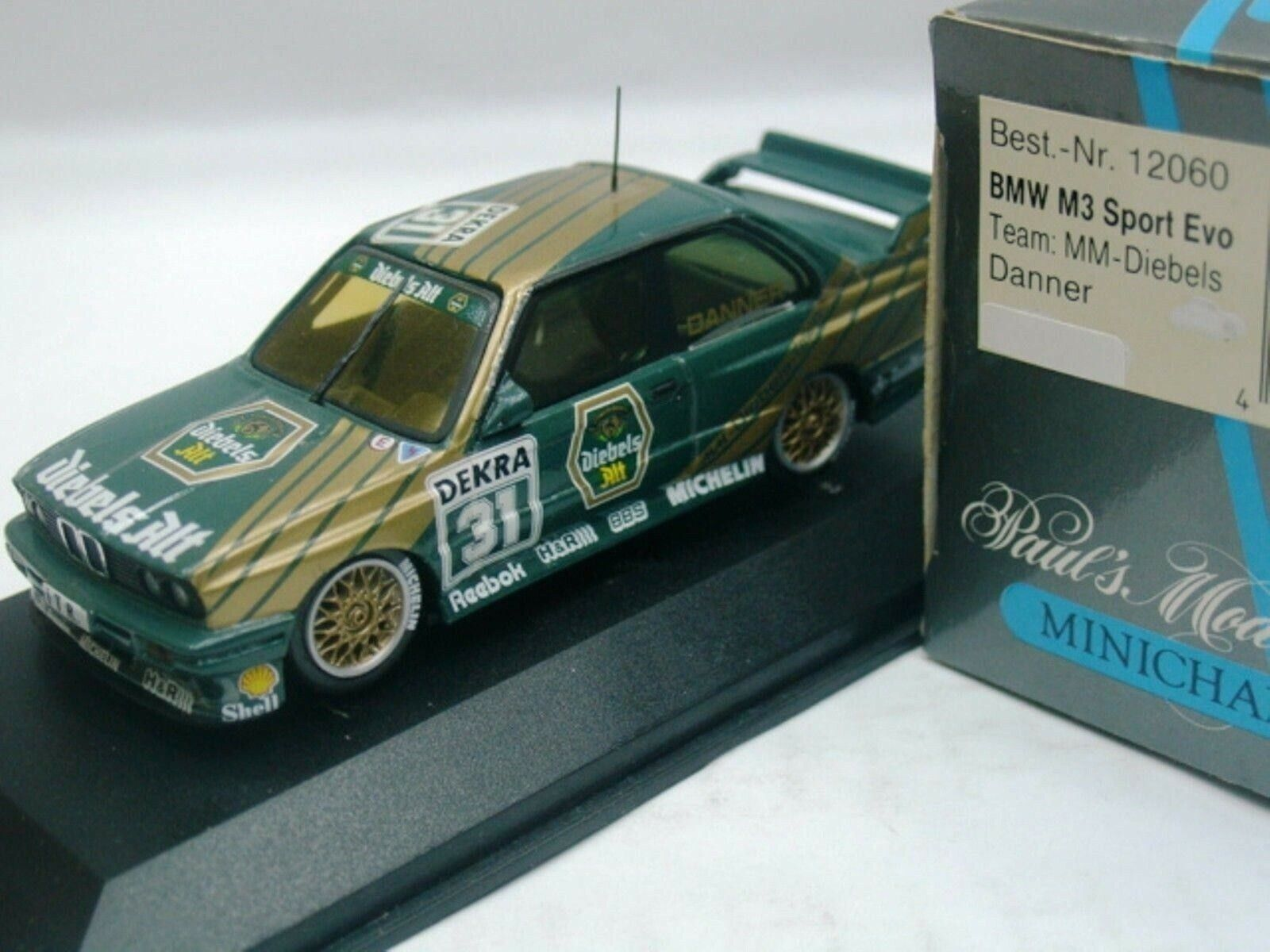 WOW EXTREMELY RARE BMW M3 E30 SE DTM 1991 Danner Eifelrennen 1 43 Minichamps