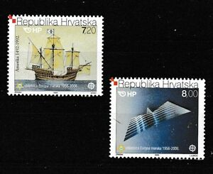 Europa Sailing Ship Gull mnh set of 2 stamps 2005 Croatia #591-2