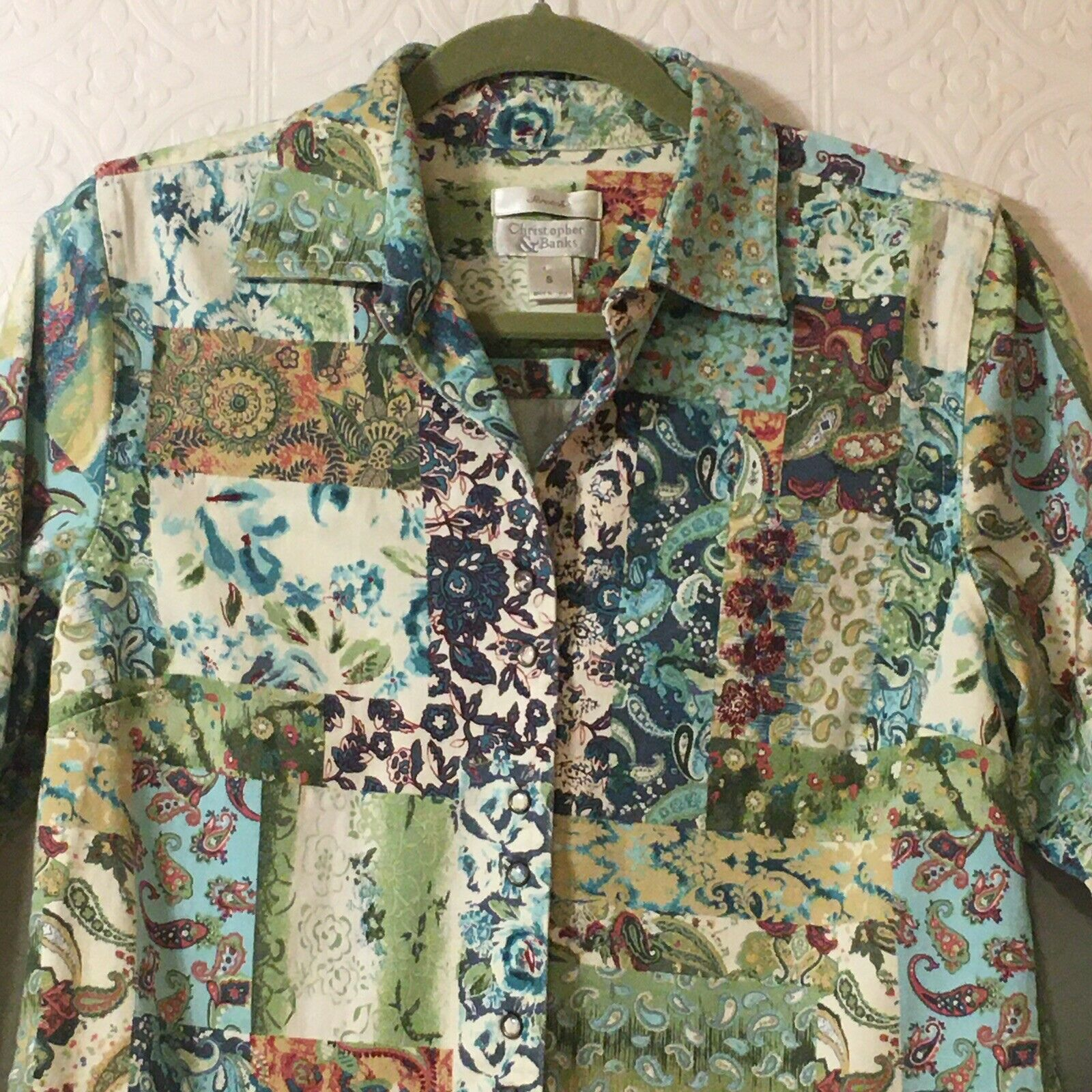 CHRISTOPHER & BANKS Jacket Women's Size Small Pea… - image 2