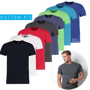 KUSTOM-KIT-SUPERWASH-TEE-FASHION-T-SHIRT-FIT-SOFT-CASUAL-GYM-TOP-MEN-039-S-XS-3XL