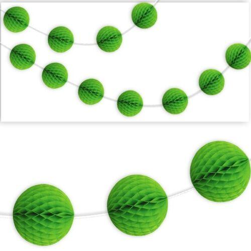 grün Wabenball-Raumgirlande 2,13m