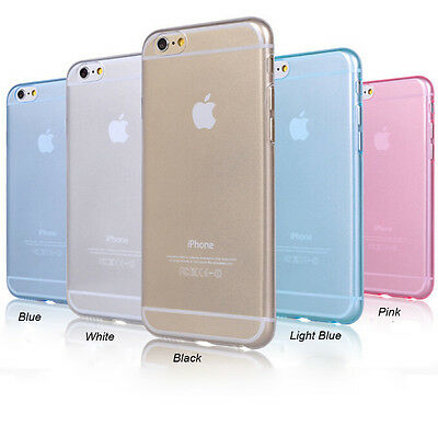 """Hot Colourful Chic Ultra Soft Slim Gel Case Silicone Cover for iPhone 6  4.7"""""""