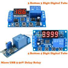 34 Button Digital Tube Timer Control Relay Micro Usb 5 30v Cycle Delay Module