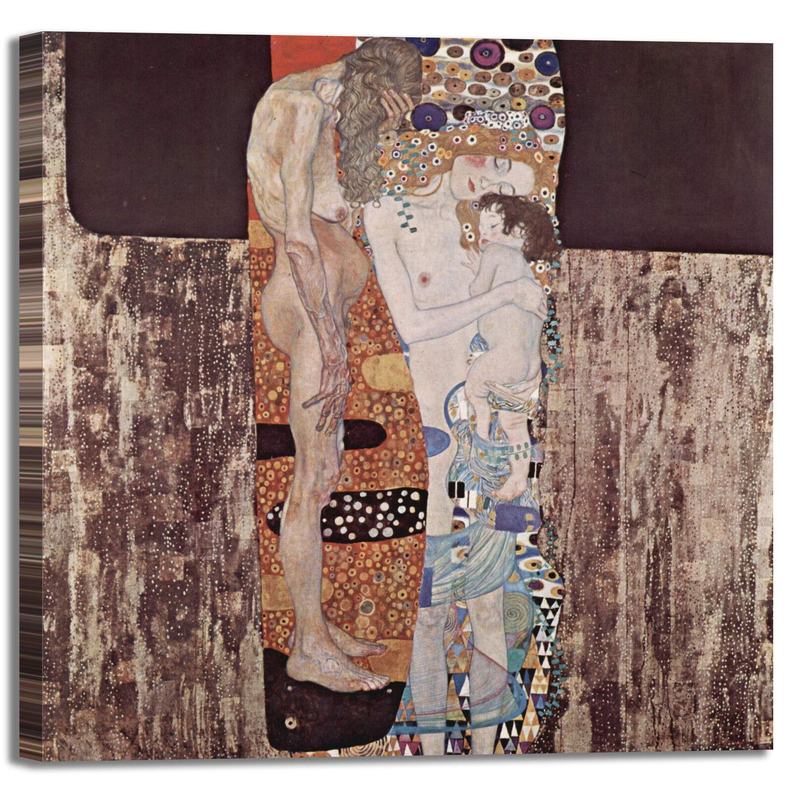 Gustav Klimt le tre età della vita vita della quadro stampa tela dipinto telaio arRouge o casa bb0b59