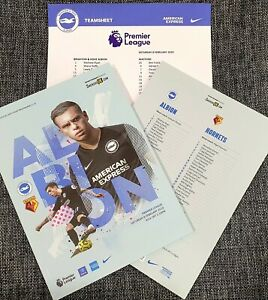 Brighton-v-Watford-Matchday-Programme-with-official-teamsheet-8-2-2020