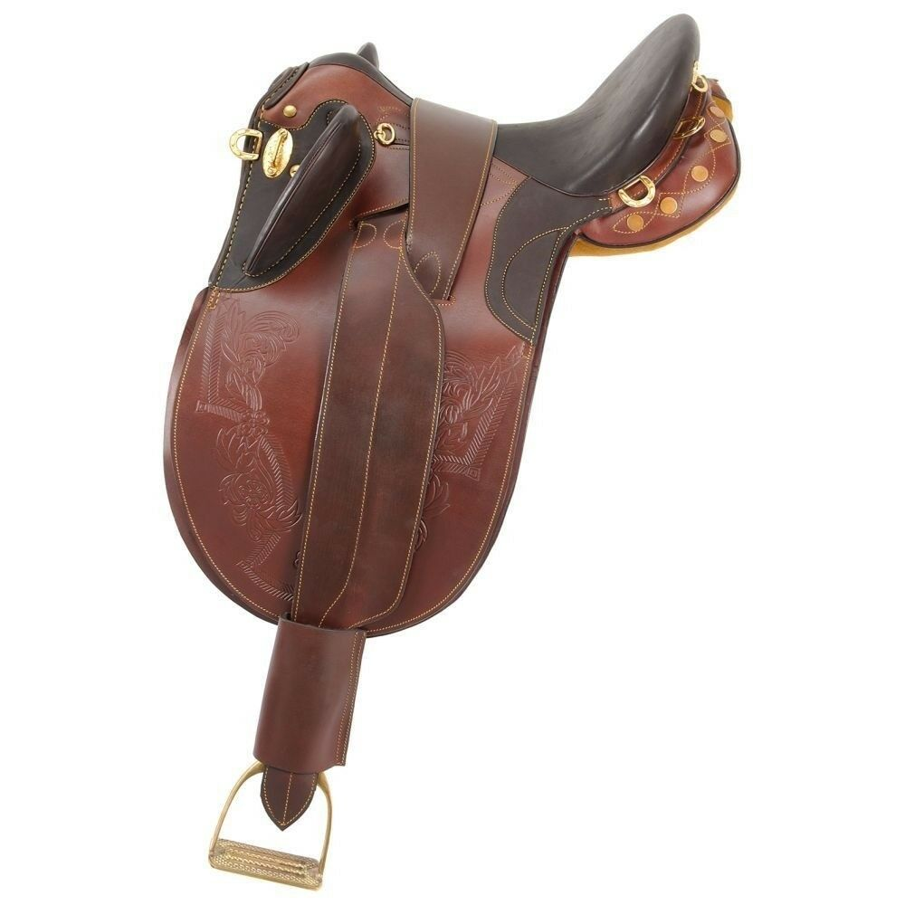 Australian Outrider Stock Poley Saddle without Horn 7  Gullet with Fittings