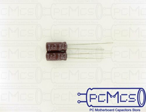 40 Pcs Nippon ChemiCon NCC KME Series 35V 33UF Made in Japan Capacitor 5x11