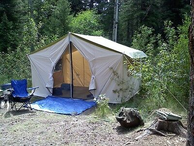 12x9x5ft Canvas Wall Tent w/Poles and Floor & Winter Canvas Tents collection on eBay!