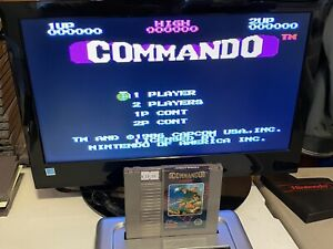 100-WORKING-NINTENDO-NES-RARE-SUPER-FUN-Game-Cartridge-CAPCOM-COMMANDO