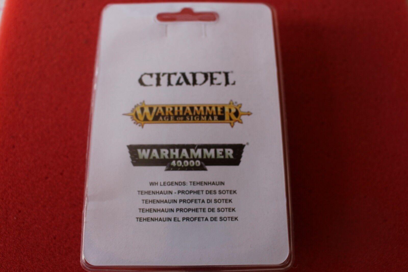 Spel arbetarhop Warhammer Lizardmän Tehenhauin Prophet of Sotek Metal New OOP GW