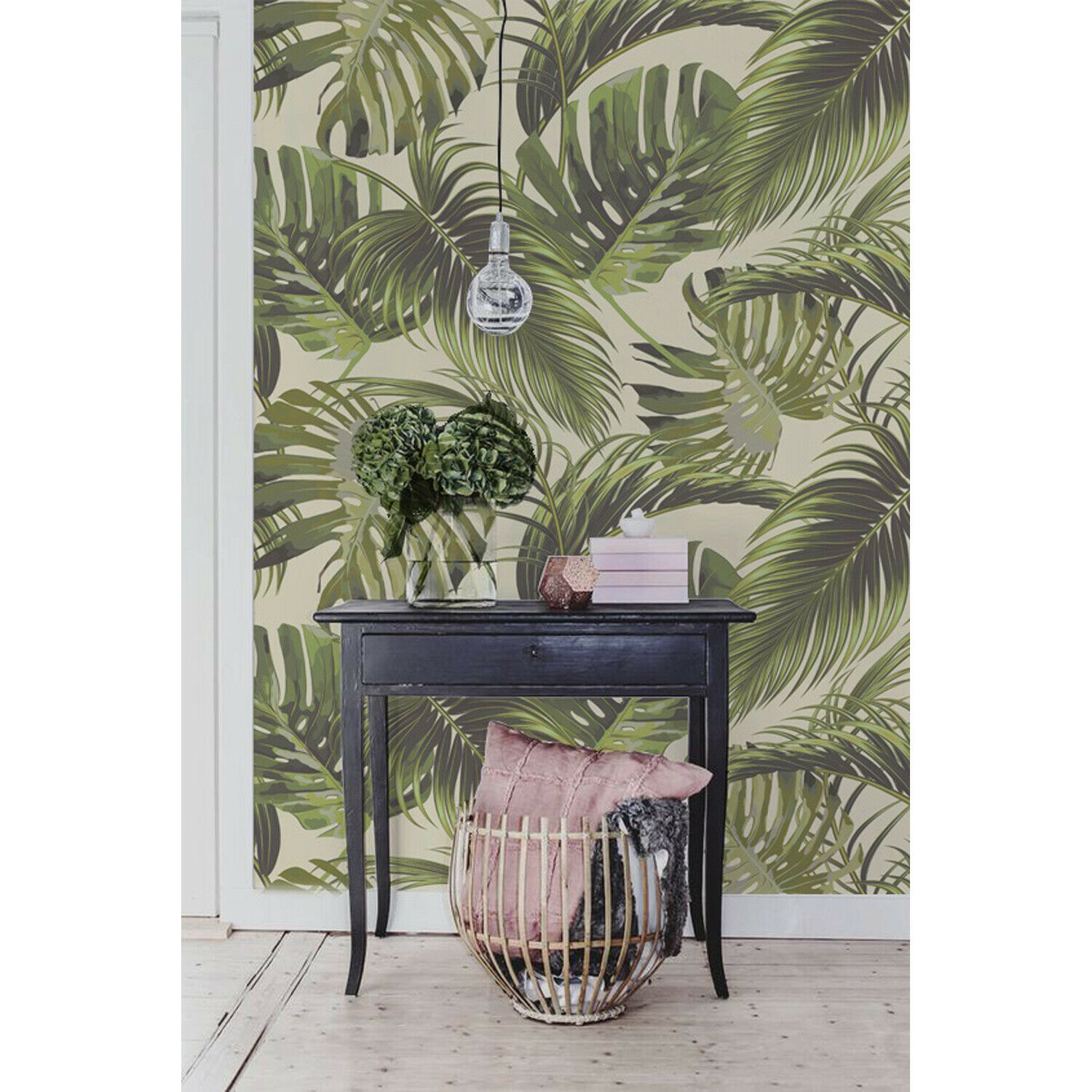 Tropical Paradise design decal vintage art Self adhesive Wall Mural Wallpaper