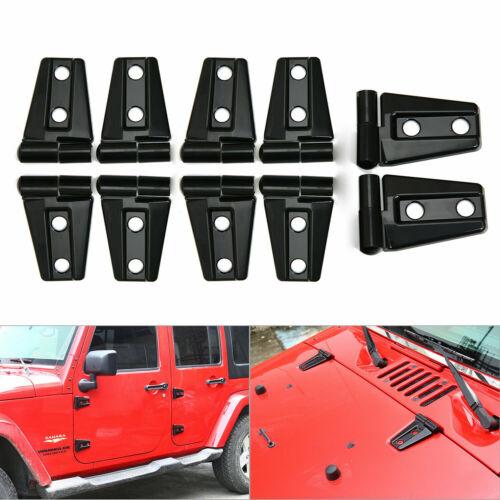 Hood /& Door Hinge Cover for 2007-2017 Jeep Wrangler JK JKU Unlimited Accessories