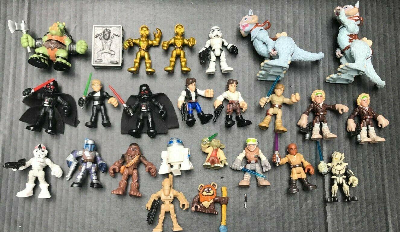 (25) 2007-2014 Hasbro Lfl Lote 3 Pulgadas Figura De Estrella Wars, Darth, Masticables, R2D2, Luke