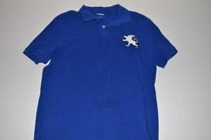 Express Big Logo Blue Polo Shirt Mens Size Medium M Ebay