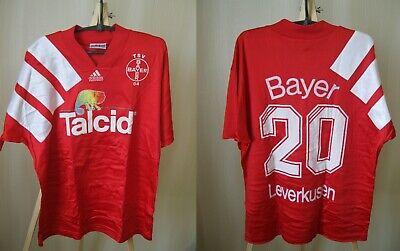 MATCH WORN Bayer 04 Leverkusen 1992/1993/1994 Size L Adidas shirt jersey trikot | eBay