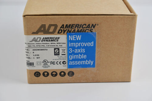 Brand New American Dynamics CCTV 504 TVL 3.8-9.5m WDR Security Color Camera