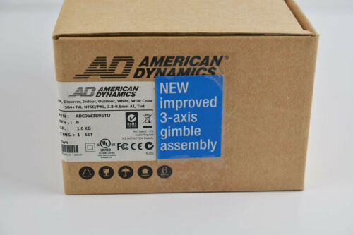 Brand New American Dynamics CCTV 504 TVL 3.8-9.5m WDR Security Color Camera