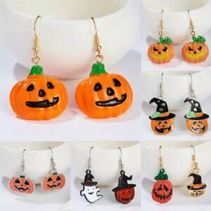Fashion-Womens-Halloween-Devil-Pumpkin-Witch-Charm-Ear-Stud-Earrings-Jewellery