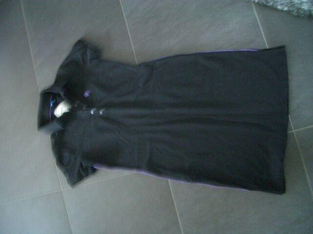 Damenpolokleid von Burlinton schwarz lila Gr. S neu