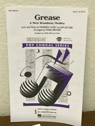 SATB Choral Octavo Hal Leonard *LOT OF 15* GREASE by Mark Brymer