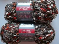 Premier City Life Trellis/ladder Yarn, Fall Holiday, Lot Of 2 (140 Yds Each)