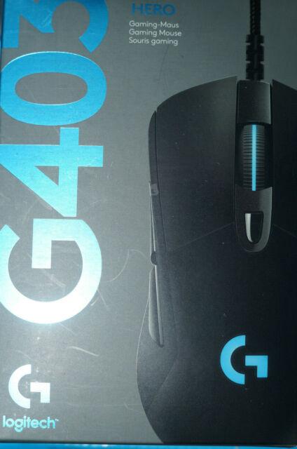 Logitech G403 HERO 16000dpi Optische Gaming-Maus - Schwarz