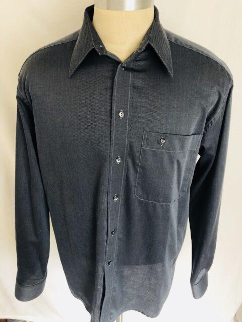 Men's - ETON Button-Down Dress Shirt (Dark Gray) - Size 41 16 (XL)