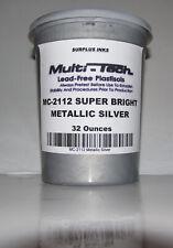 Metallic Silver Plastisol Screen Printing Ink Multi Tech Mc 2112 Surplus