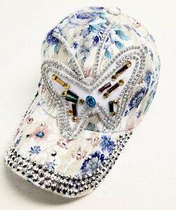 Women-039-s-Fashion-Jewel-Butterly-Pattern-Baseball-Style-Hat-with-Free-Shipping