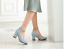 Women-039-s-Mary-Jane-Buckle-Ankle-Strap-High-Heels-Pointed-Toes-Block-Shoes-Casual thumbnail 7