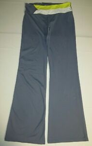 Para Mujer Victoria Secret Vsx Sport Flare Fit Pantalones De Yoga S Pequeno Gris Blanco Amarillo Ebay