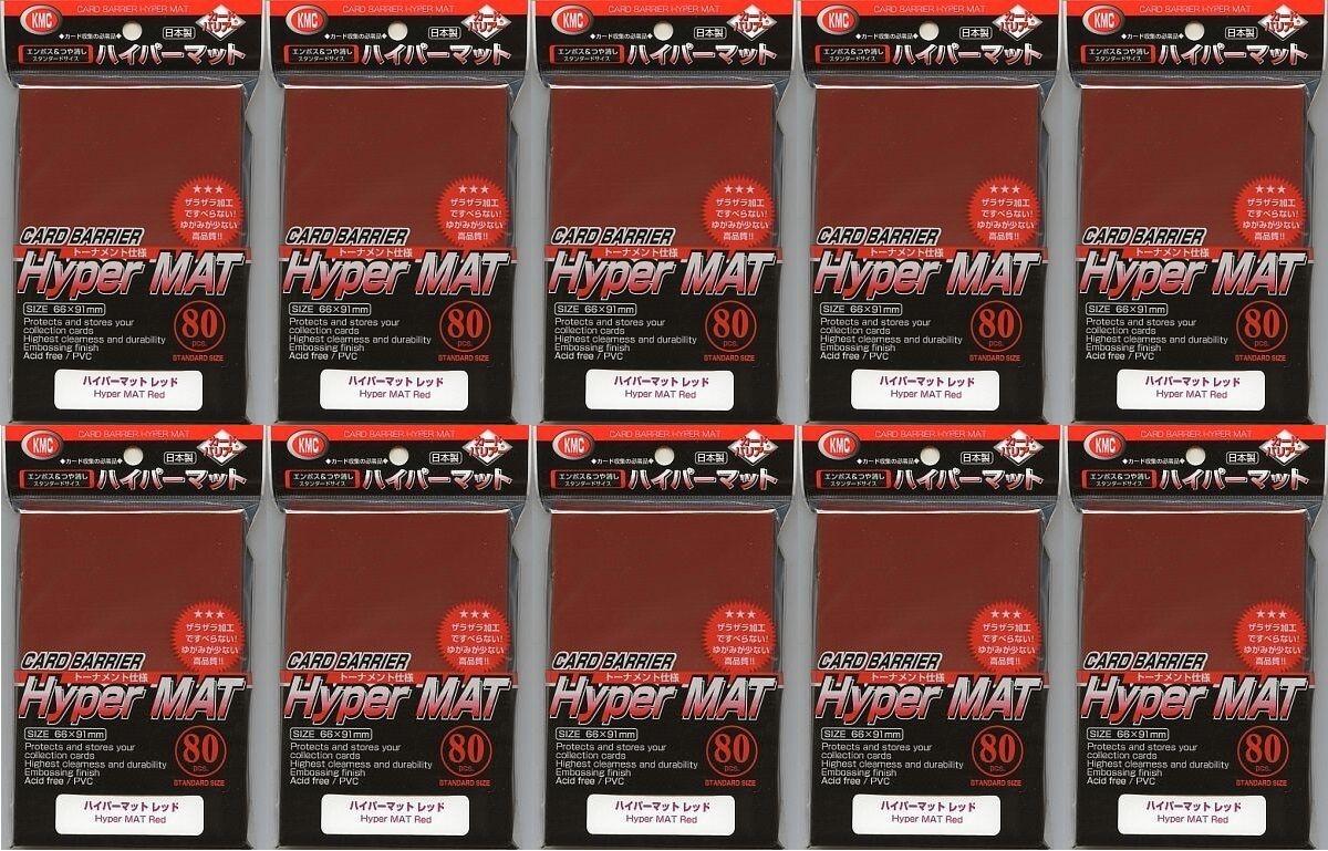 Ny hyperMatt röd KMC - barrier Matte glidasen 80 pcs x 10 set japan